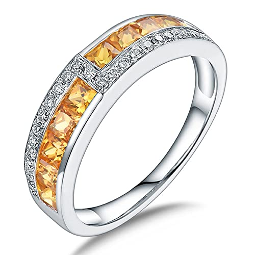 0254f58385f1 Nuevo diseño Fany conjuntos de joyas diamantes de oro blanco de 14 quilates amarillo  zafiro anillos