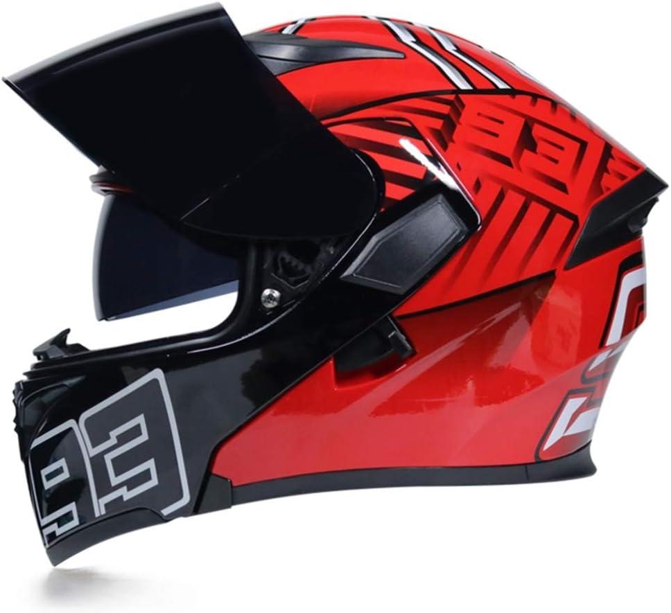 M/änner Frauen Flip Up Motorradhelm Double Lens Modular Racing Offroad Integralhelm Modular Motorrad Motorrad Highway Helm