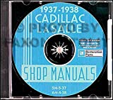 FULLY ILLUSTRATED 1937 1938 CADILLAC & LaSALLE FACTORY REPAIR SHOP & SERVICE MANUALCD INCLUDES models 60, 60, 60S, 65, 70, 75, 85, 90, and La Salle 50, and V8, V12, and V16 engines. 37 38