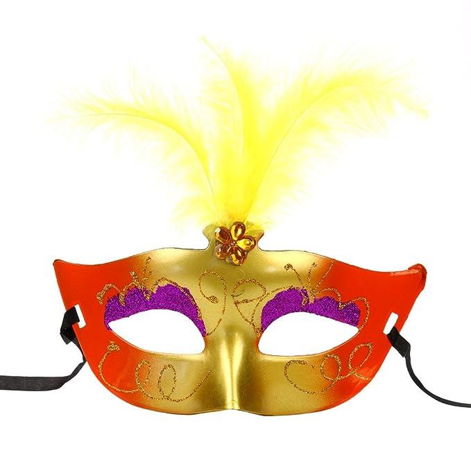 Amazon.com: Bonjiu - Máscara de encaje con luces LED para ...