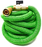 "Brass Bullet Hose Expandable Flexible Light ALL NEW for 2018 50ft Expanding Triple Layer Latex Core Encased in Extra Strength Fabric. Garden Hose Features ¾"" Brass, Steel Clamping With In-Line On-Off"