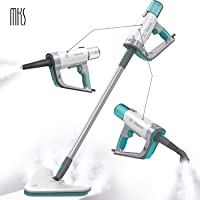 Steam Mop Cleaner MKS 12 in 1 for Hardwood/Tiles/Vinyl/Carpet - Easy-Detachable Handheld Steam Cleaner for Kitchen - Garment - Furniture and Clothes, Multifunctional Whole House Steamer