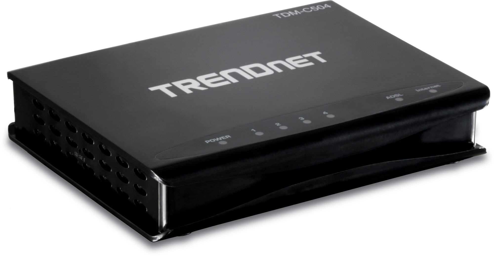 TRENDnet 4-Port ADSL 2/2+ Fast Ethernet Combination Modem Router, 4 x 10/100Mbps Auto-MDIX RJ-45 Ports, TDM-C504 by TRENDnet