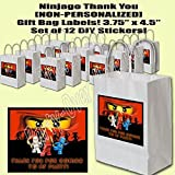 "Ninjago Video Game Party Favors Supplies Decorations Gift Bag Label STICKERS ONLY 3.75"" x 4.75"" -12 pcs"