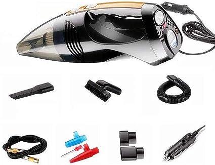 Xccq Aspiradora de coche con luz LED, aspirador de mano, portátil, para mojarse y secar, aspirador