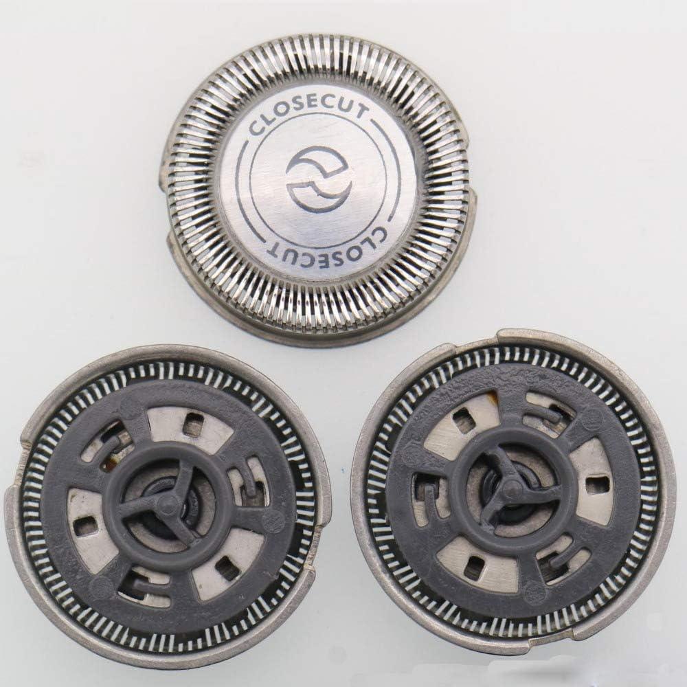 Turbobm 3Pcs HQ4 Cabeza de afeitadora de Repuesto Cabeza de Afeitar Cabeza de Afeitar para Philips, Afeitadoras de ...