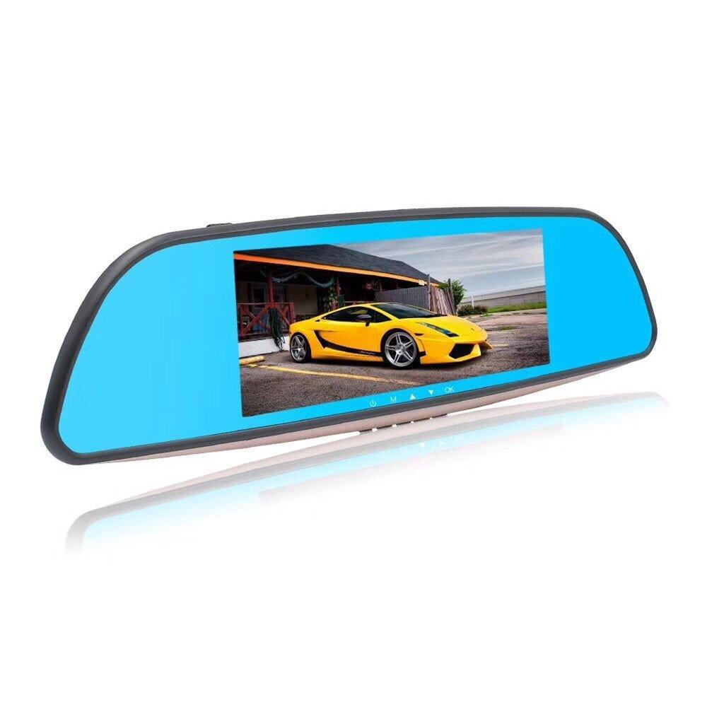 BaZhaHei Auto y Moto Monitor de Espejo retrovisor con grabadora de Video de cámara DVR de 7 Pulgadas HD H805 1080P grabadora de conducción de Pantalla de ...