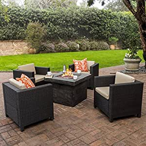 Amazon Com Venice Patio Furniture 5 Piece Outdoor Wicker