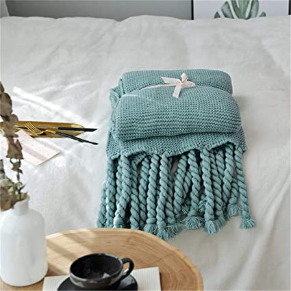 Amazon.com: TUNDSKHF 130170CM American Style Knitted Blanket ...