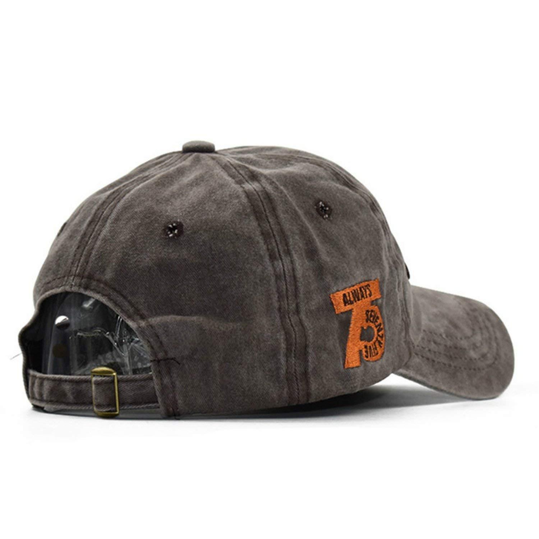 Amazon.com: Man Cap Baseball Cap Men Snapback Mens Caps for Man Gorras Dad Hat Letter Washed Cotton Vintage Hat,Black,Adjustable: Clothing