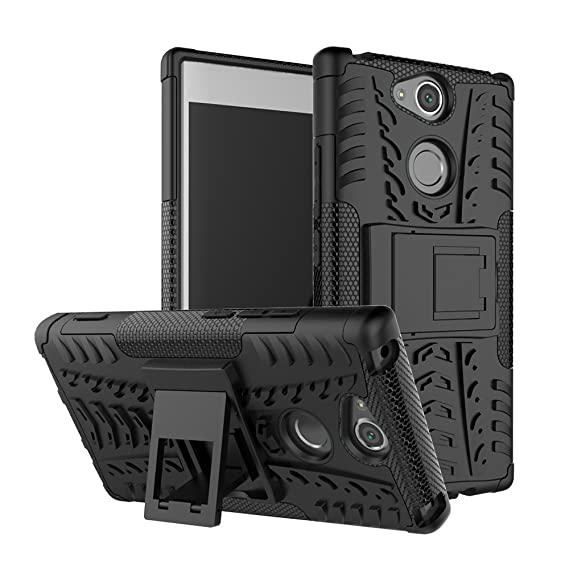 sports shoes 1d29c 00a78 Sony Xperia XA2 Case, BasicStock Hybrid Combo Armor [Double Layer] Hard  Back Cover [Anti-Drop] Anti-Shock Rigid Case Cover with Kickstand for Sony  ...