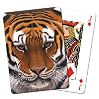 Tree-Free Greetings Standard Playing Card Deck, Siberian Tiger Themed Wildlife Art (49732)