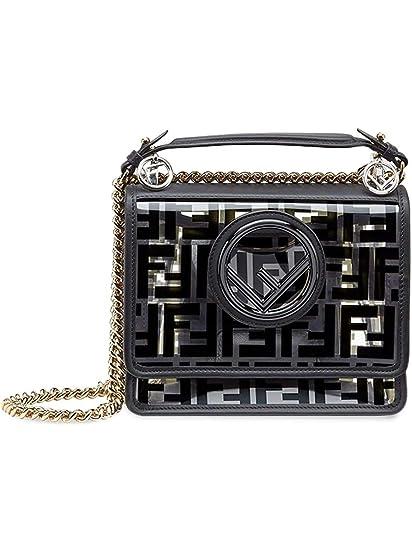 f8d86835a6c Fendi Women's 8Bt286a7t5f0kur Black Polyurethane Shoulder Bag:  Amazon.co.uk: Clothing