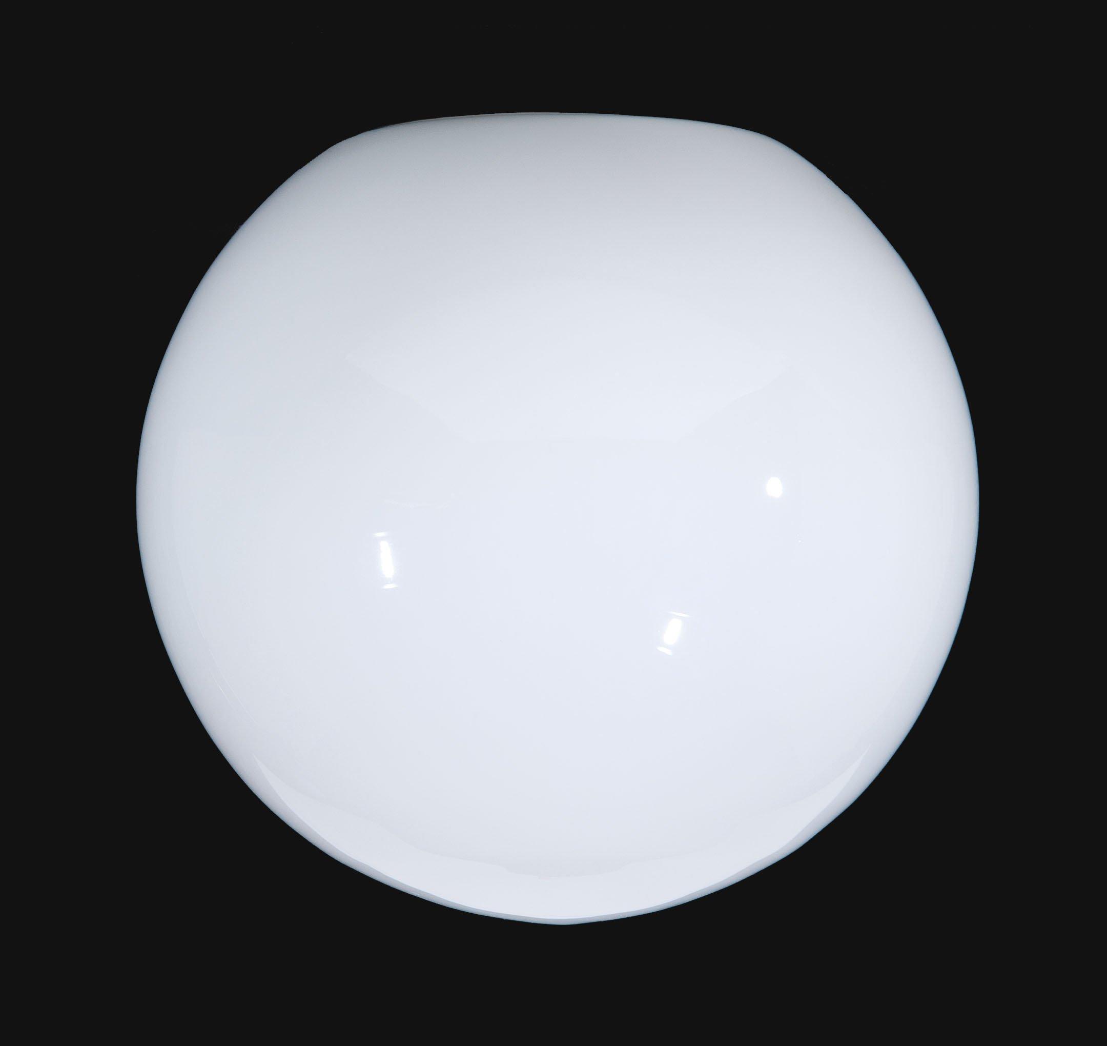 B&P Lamp 16'' Opal Glass Neckless Ball Shade