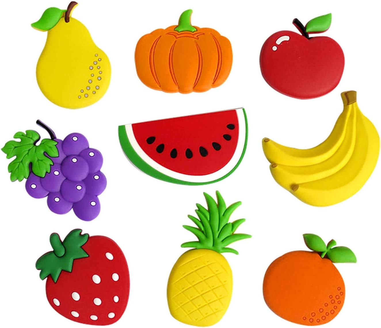 Cute Fruits Vegetables Fridge Magnets Kids Activity Home Decoration Funny Stickers a Set of 9 Pieces