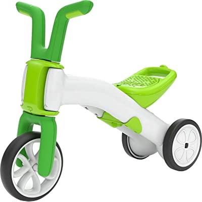 Chillafish Bunzi 2-in-1 Toddler Balance Bike and Tricycle, Ages 1 to 3 Years Old, Adjustable Lightweight First Gradual Balance Bike with Silent Non-Marking Wheels, Lime: Toys & Games