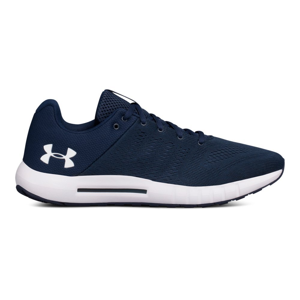Under Armour mens Micro G Pursuit Running Shoe, Academy Blue (402)/Black, 12 by Under Armour