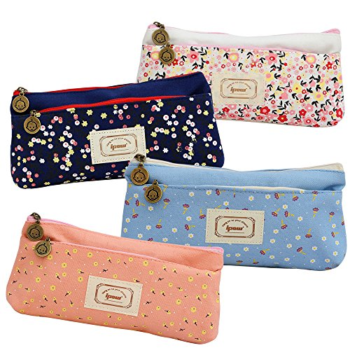 Floral Canvas Pouch Bag