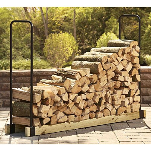 Style Selections 48-in x 2.79-in x 14.64-in Steel Adjustable Firewood Rack