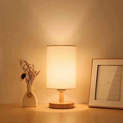 Creative Led Small Lamp Night Light Wooden Base Lamp Table Lamp