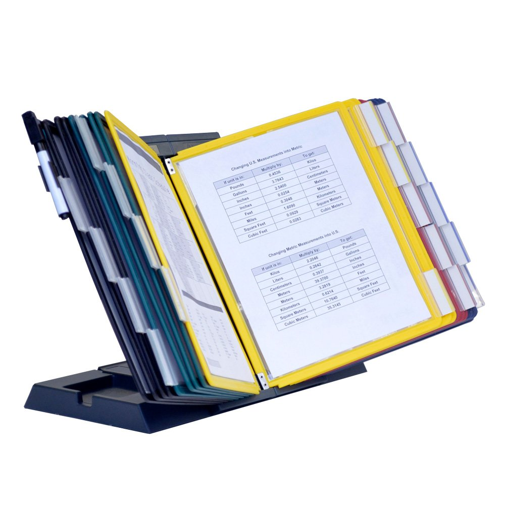 Ultimate Office DocuMate 20-Pocket Desktop Reference Organizer (Assorted Pockets)