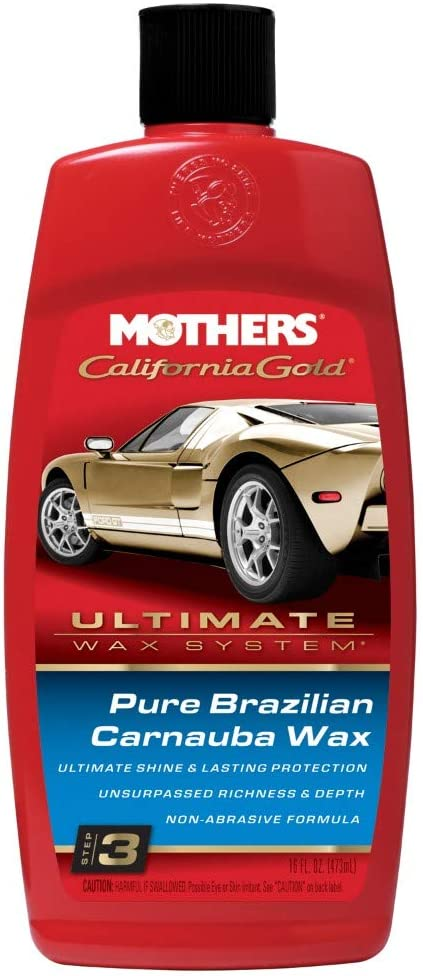 Mothers 05750 California Gold Pure Brazilian Carnauba Liquid Wax (Ultimate Wax System, Step 3) - 16 oz.