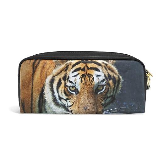 Eslifey Tiger - Estuche de piel sintética para cosméticos y ...
