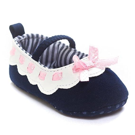 5d9901f562 YanHoo Zapatos para niños Zapatos de bebé con Fondo Blando para niños  pequeños Zapatos de bebé Bowknot para niña Zapatillas Antideslizantes Suela  Suave para ...