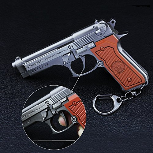 chouge games Eat Chicken 3.5'' metal P18C Pistol Model Figure Arts Toys Collection Keychains Gift within Holster by chouge (Image #3)