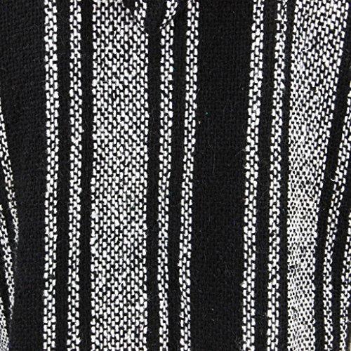 Siesta Herren Kapuzenpullover, Gestreift schwarz schwarz / weiß One size