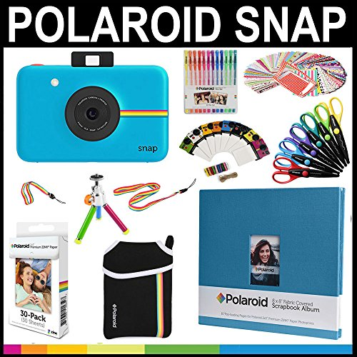 Polaroid snap instant print camera gift bundle zink for Amazon gelbsticker