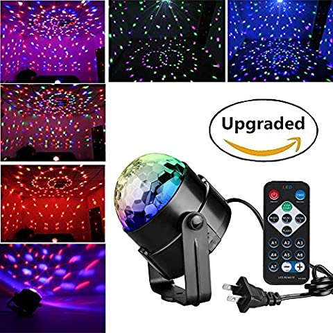 LED Disco Ball Party Lights - Renoliss Remote Control Disco Lights Karaoke Machine 3W Dj Light LED Portable 7Colors Sound Activated Stage Lights for Festival Home Bar Club Party Outdoor (2017 - Party Machine