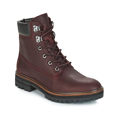 Timberland Mujer Burdeos London Square 6 Inch Botas-UK 3.5