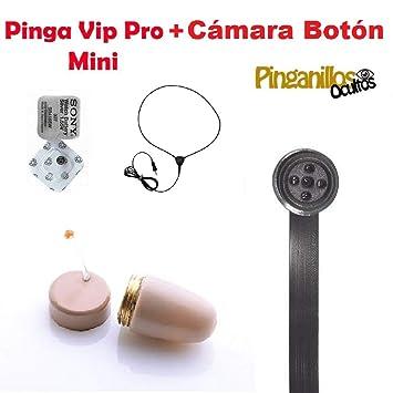 Pinga VIP Pro Mini + Cámara Botón Espía WiFi (Carne): Amazon.es: Bricolaje y herramientas