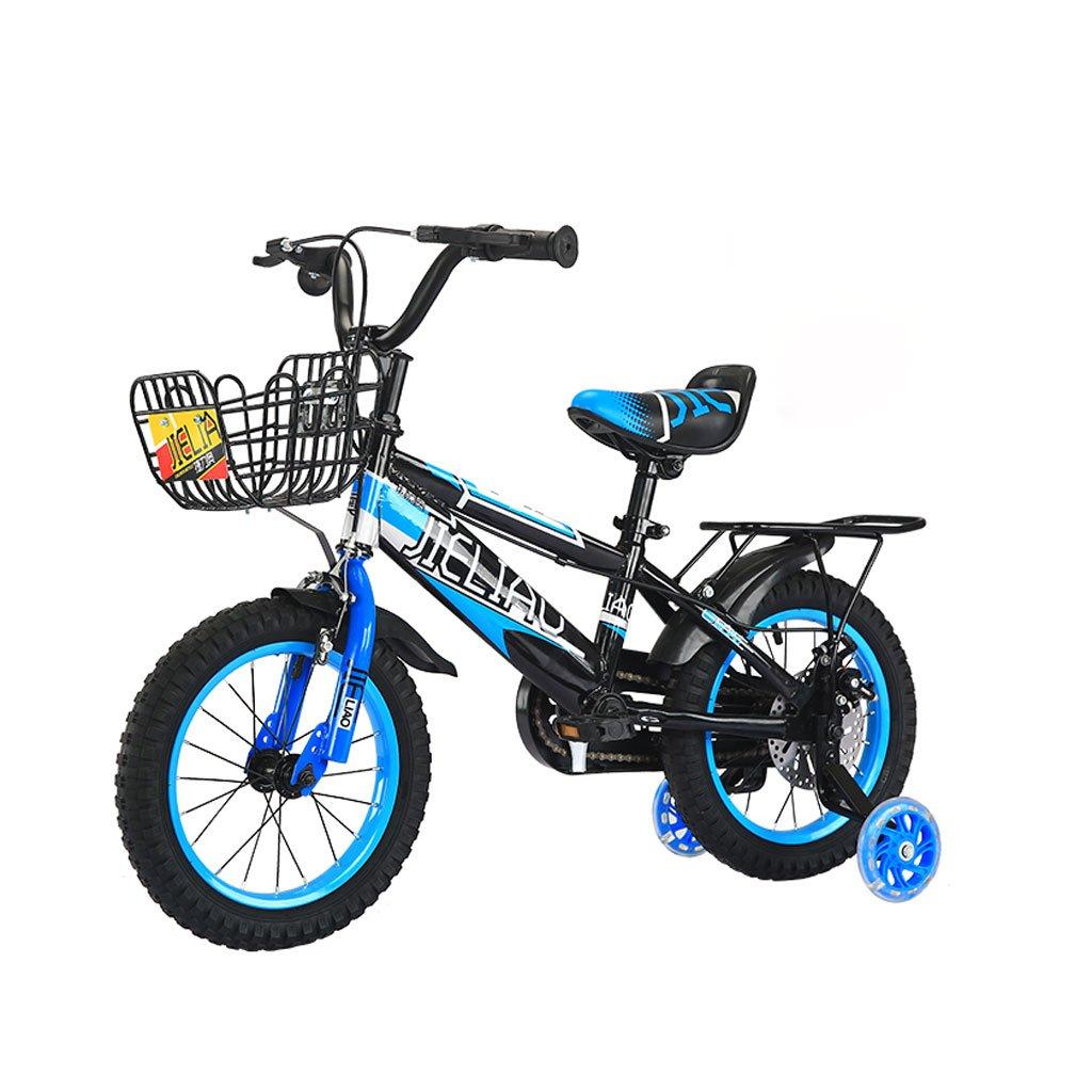 Fenfen子供の自転車14 /16インチ子供用ペダル自転車3 – 6 /5 – 8 year-olds Boys and Girls Tricycleディスクブレーキブラックブルー B07DXJX1XN   14 inches