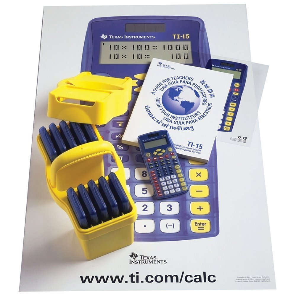 TI 15 Explorer Calculator Teacher Kit 10 Count