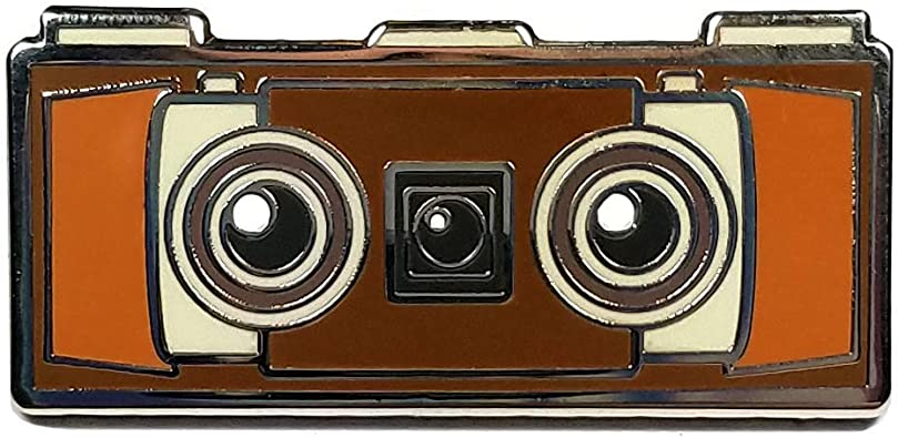 Flea Circus Designs Kodak Stereo Camera Cute Hard Enamel Lapel Pin Jackets Hats Backpacks Amazon Co Uk Jewellery