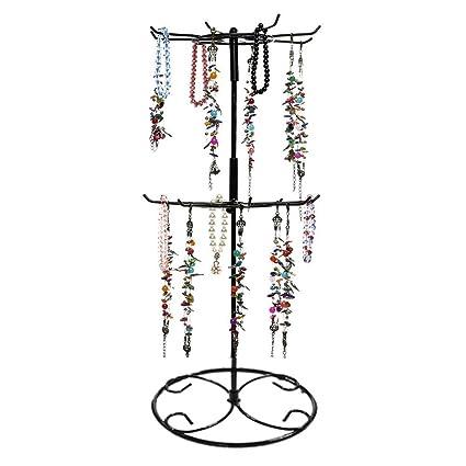 Amazon Jewelry Stand Botitu 4040 Inch Tall Revolving Necklace Amazing Revolving Jewelry Display Stand