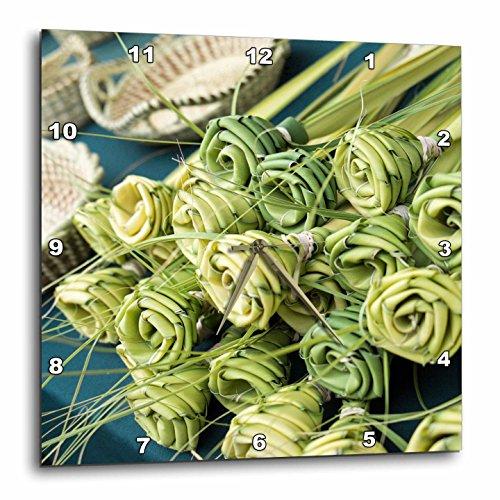 3dRose Danita Delimont - Charleston - Grass woven roses for sale at market, Charleston, South Carolina. USA - 13x13 Wall Clock - Outlets South Carolina Charleston