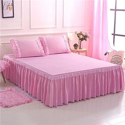 Pink Bed Skirt Queen.Amazon Com Berteri Home Textile Pink Bed Skirt Set Bed