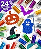 Original Stationery Arts and Crafts Glitter Shake Jars, Extra Fine Powder, 24 Multi Color Assorted Set. Works for Slime, School and Childrens Projects (24 pcs Pack)