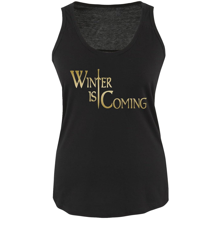 Funshirts-Company Winter is Coming-Femmes d/ébardeur pour Femme Taille s /à XL diff/érents Coloris