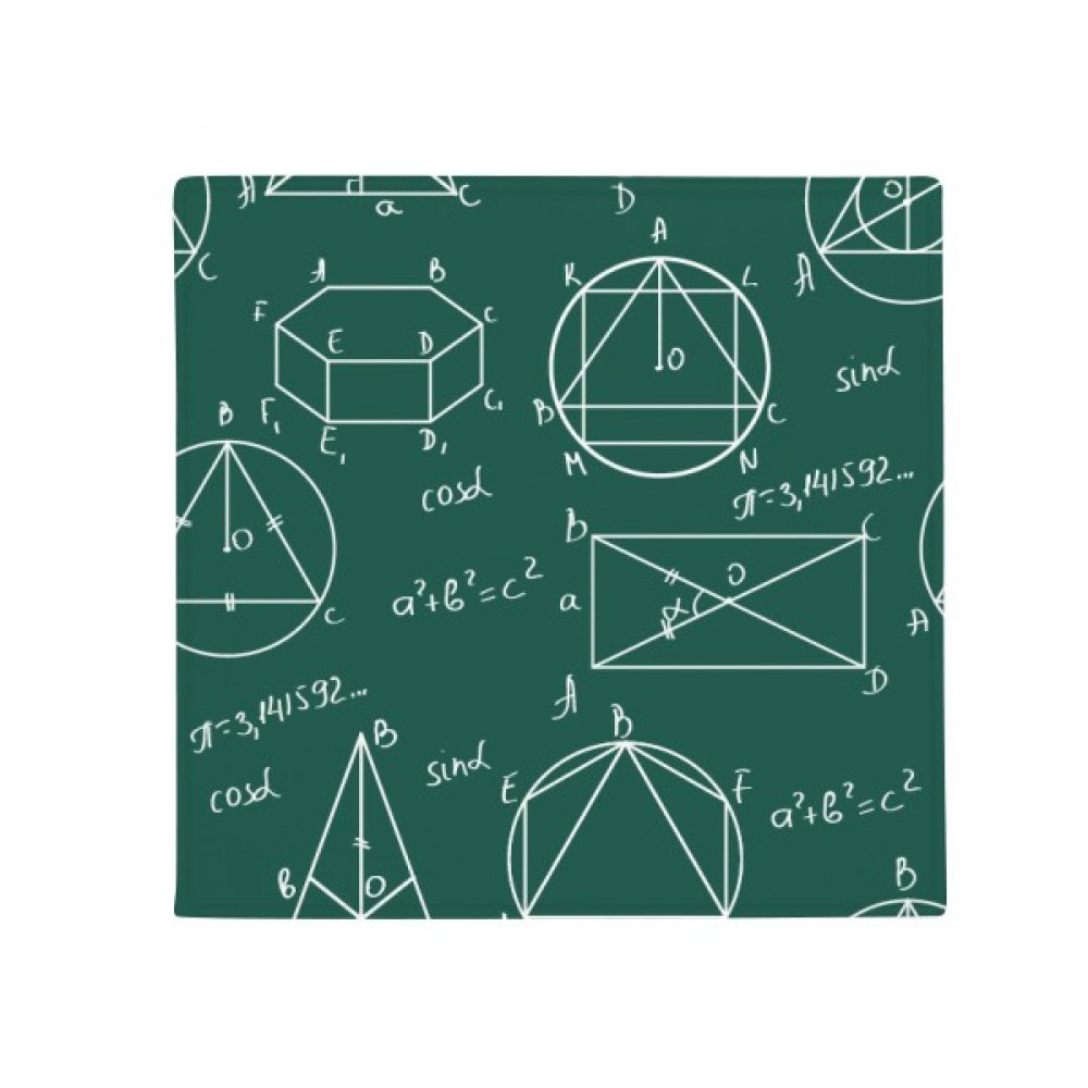 DIYthinker Geometric Mathematical Formula Calculus Anti-Slip Floor Pet Mat Square Home Kitchen Door 80Cm Gift