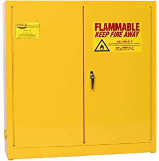 Eagle 1976 Safety Cabinet For Flammable Liquids, 2 Door Manual Close, 24  Gallon,