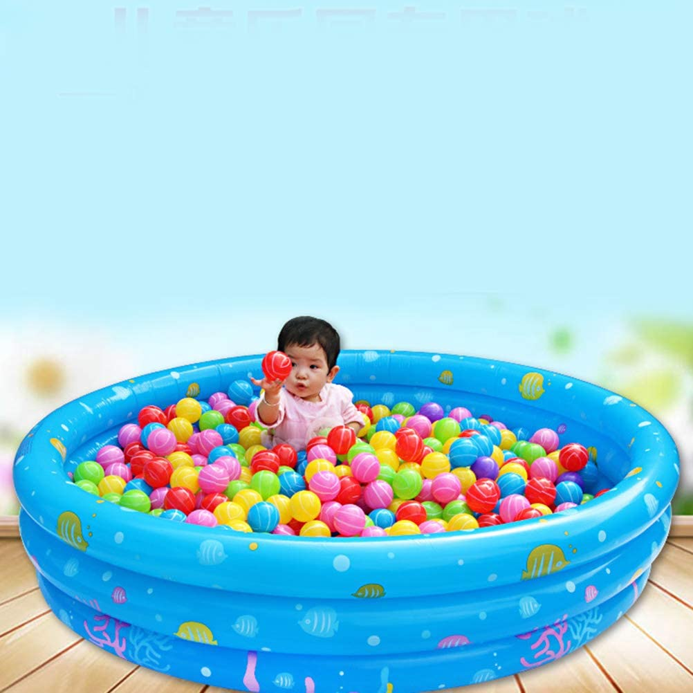 LIOOBO 50pcs Colorful Pit Balls Soft Ocean Balls Elastic Ball Playground Ball Toy for Toddlers Kids Baby 7cm