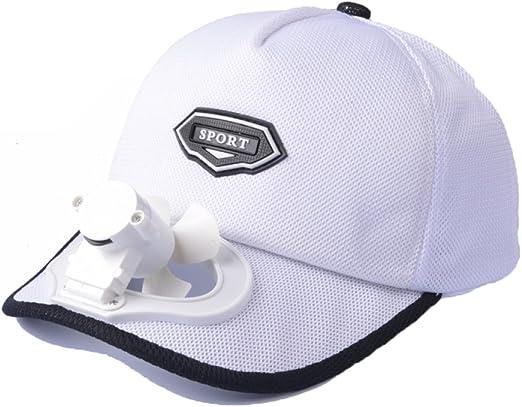 Ventilador Sombrero De Refrigeración USB De Carga Al Aire Libre Protector Solar De Protección Solar Sombrero De Golf De Béisbol Transpirable,White: Amazon.es: Hogar