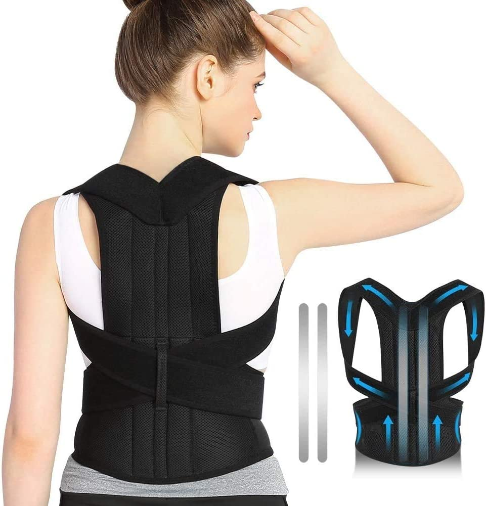 DOACT Back Brace Posture, Posture Corrector For Men Women, Back Support Pain Relief For Upper And Lower Back, Forward Head Posture Fix, Shoulder Brace Posture, Like Back Support For Office Chair (S)