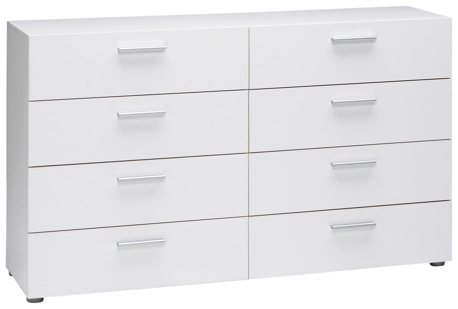Tvilum Austin 8-Drawer Dresser, White by Tvilum
