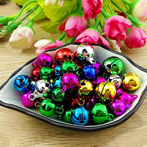 300pcs Christmas Xmas Jingle Bells Pendant Iron Loose Beads Handmade Accessories Beads Beads Accessories Handmade