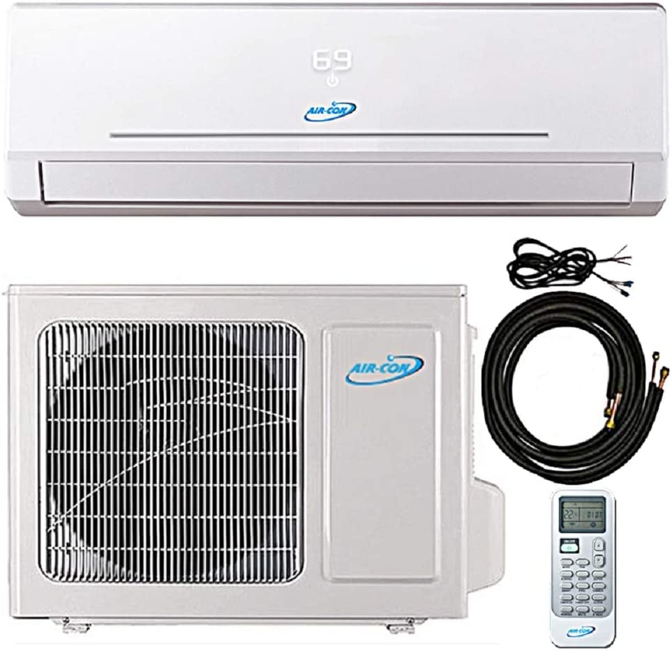 12000 Btu 22 SEER Ductless Mini Split DC Inverter Air Conditioner Heat Pump System 208-230 Volt with 15ft Kit 12000 Btu